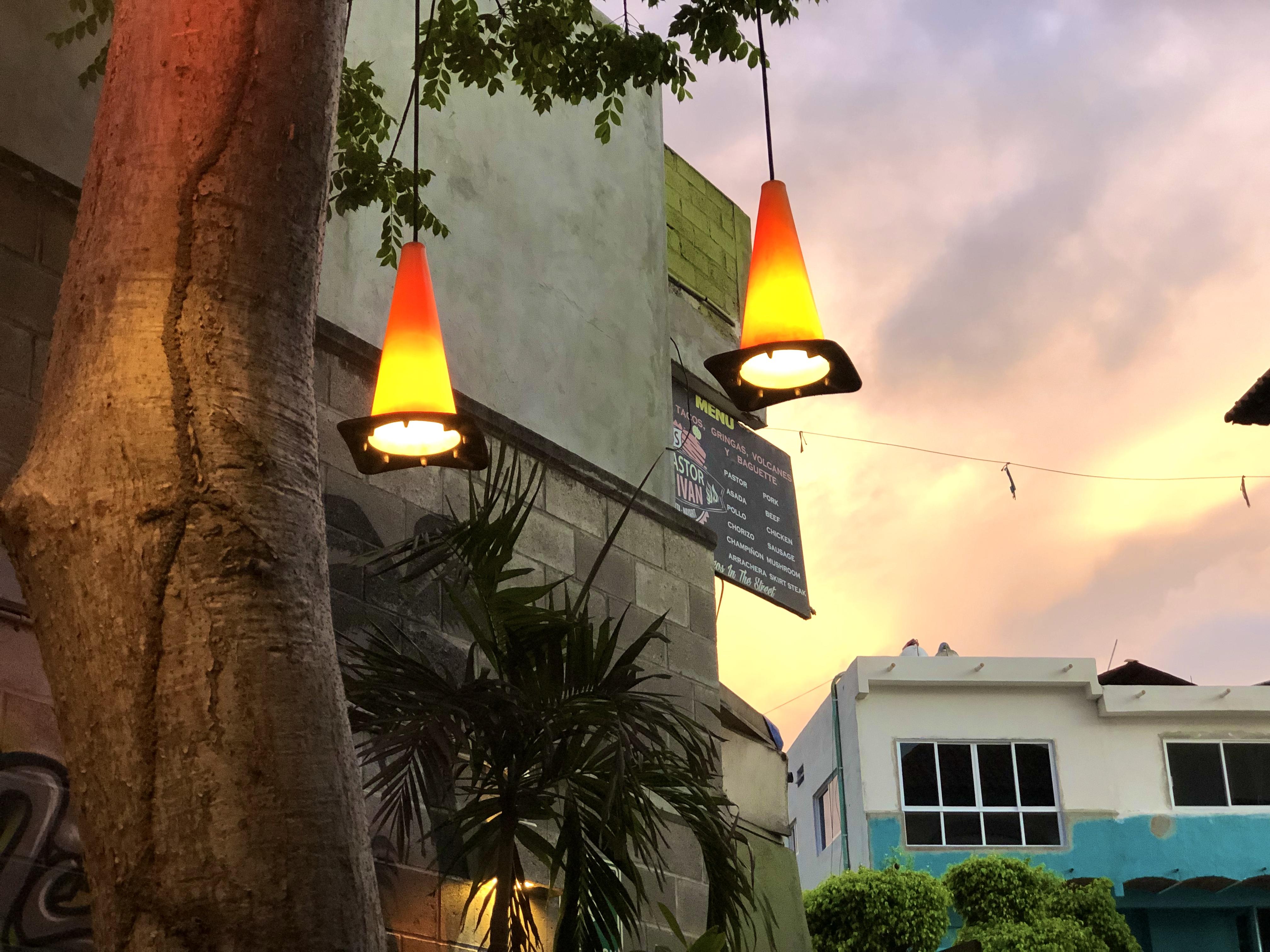 Nice Restaurant light cones 9